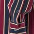 Ganni Women's Donaldson Silk Shirt - Cabernet Stripe: Image 6