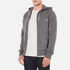 Maison Kitsuné Men's Tricolor Patch Zip Hoody - Black Melange: Image 2