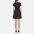 T by Alexander Wang Women's Rayon Rib Knitted Short Sleeve Flared Dress - Black: Image 3