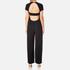 T by Alexander Wang Women's Poly Crepe Open Back Pantromper Jumpsuit - Black: Image 3