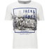 Jack & Jones Men's Originals Coffer T-Shirt - Cloud Dancer/Teal: Image 1