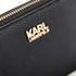 Karl Lagerfeld Women's K/Grainy Zip Around Wallet - Black: Image 3