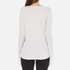 Helmut Lang Women's Long Sleeve Thumb Hole T-Shirt - White Melange: Image 3