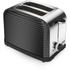 Tower T20007 2 Slice Linear Toaster - Black: Image 1