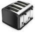 Tower T20008 4 Slice Linear Toaster - Black: Image 2