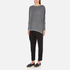 Paisie Women's Ribbed Jumper with Side Splits - Marl Grey: Image 4