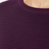 Paisie Women's Ribbed Jumper with Side Splits - Plum: Image 4