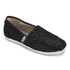 TOMS Kids' Seasonal Classics Slip-On Pumps - Black Crochet Glitter: Image 2