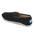 TOMS Kids' Seasonal Classics Slip-On Pumps - Black Crochet Glitter: Image 4