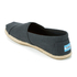 TOMS Men's Seasonal Classic Slip-On Pumps - Black Linen with Rope: Image 4