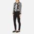 Boutique Moschino Women's Tweed Embellished Jacket - Black: Image 4