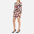 Boutique Moschino Women's Heart Print Wrap Around Dress - Multi: Image 2