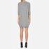 Love Moschino Women's Logo Imprint Jumper Dress - Medium Grey: Image 3