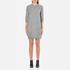 Love Moschino Women's Logo Imprint Jumper Dress - Medium Grey: Image 1