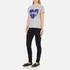 Love Moschino Women's Love Heart T-Shirt - Medium Grey: Image 4