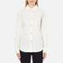 Love Moschino Women's Silver Heart Pendant Shirt - White: Image 1