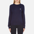 Love Moschino Women's Silver Heart Pendant Jumper - Navy: Image 1