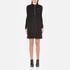 Love Moschino Women's Silver Heart Pendant Zip Jumper Dress - Black: Image 1
