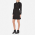 Love Moschino Women's Silver Heart Pendant Zip Jumper Dress - Black: Image 3