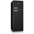 Swan SR11010BN Retro Top Mounted Fridge Freezer - Black