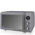 Swan SM22030GRN 800W Retro Digital Microwave - Grey: Image 1