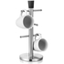 Tower 6 Cup Mug Tree - Stainless Steel/Black: Image 2