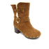 UGG Women's Brea Clog Suede Buckle Boots - Chestnut: Image 2
