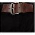 Smith & Jones Men's Ashlar Belted Slim Fit Chinos - Black Twill: Image 4