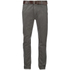 Smith & Jones Men's Ashlar Belted Slim Fit Chinos - Charcoal Twill: Image 1