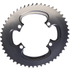 AbsoluteBLACK 110BCD 4 Bolt Spider Mount Aero Oval Chain Ring (Training)