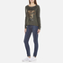 Superdry Women's Slubby Graphic Knitted Jumper - Khaki Twist: Image 4
