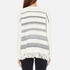Woolrich Women's Soft Blanket Sweater - Frost White Stripe: Image 3