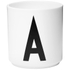 Design Letters Porcelain Cup - A: Image 1