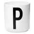 Design Letters Porcelain Cup - P: Image 1