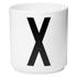 Design Letters Porcelain Cup - X: Image 1