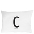 Design Letters Pillowcase - 70x50 cm - C