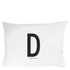 Design Letters Pillowcase - 70x50 cm - D: Image 1