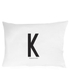Design Letters Pillowcase - 70x50 cm - K: Image 1