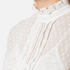 Perseverance Women's Victoriana Dobby Chiffon Blouse with Lace Cami Lining - Off White: Image 5
