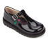Kickers Kids' Kick T Patent Flat Shoes - Black: Image 2