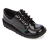 Kickers Kids' Kick Lo Patent Shoes - Black: Image 2