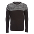 Brave Soul Men's Roland Marl Panel Jumper - Black: Image 1