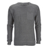 Brave Soul Men's Adler Textured Pocket Jumper - Mid Grey: Image 1