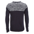 Brave Soul Men's Roland Marl Panel Jumper - Navy: Image 2