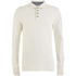 Brave Soul Men's Lincoln Long Sleeve Polo Shirt - Ecru: Image 1