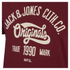Jack & Jones Men's Originals Raffa T-Shirt - Syrah: Image 3