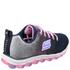 Skechers Kids' Skech Air Trainers - Navy/Pink: Image 2