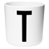 Design Letters Kids' Collection Melamin Cup - White - T: Image 1