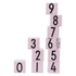 Design Letters Kids' Collection Wooden Cubes 0-9 - Pink: Image 1