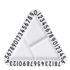 Design Letters Kids' Collection Melamine Triangular Snack Plate - White: Image 1